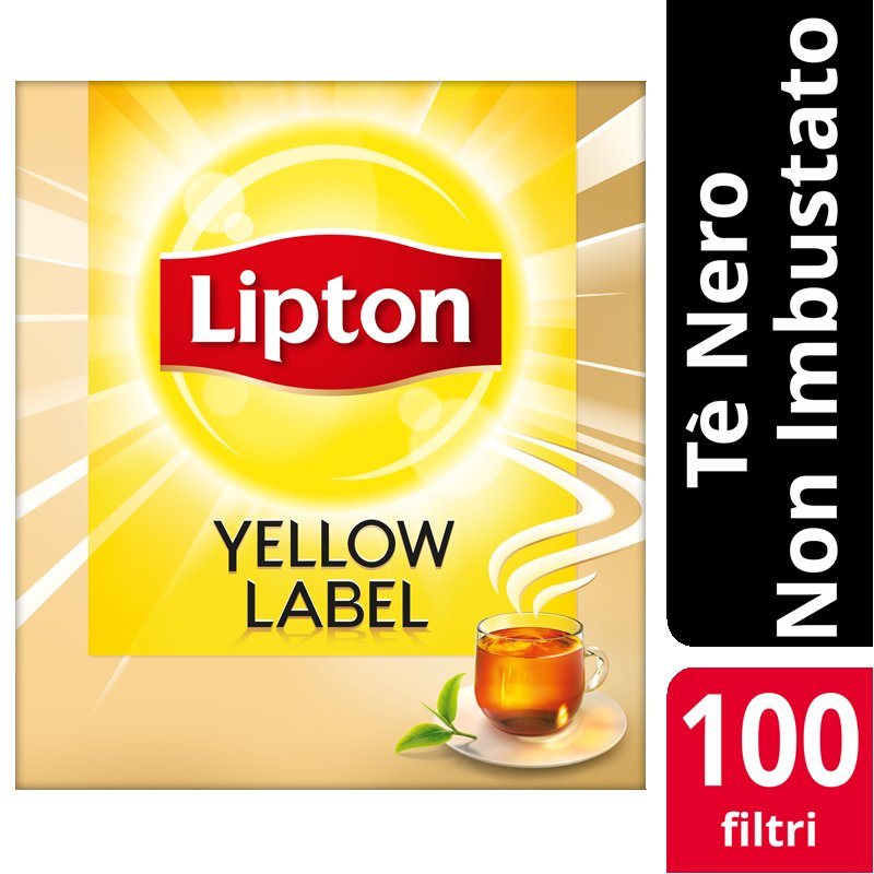 Lipton Yellow Label Tea 100 Filtri Non imbustati -
