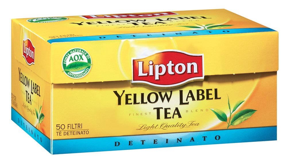 Lipton Yellow Label Tea Deteinato 50 Filtri -