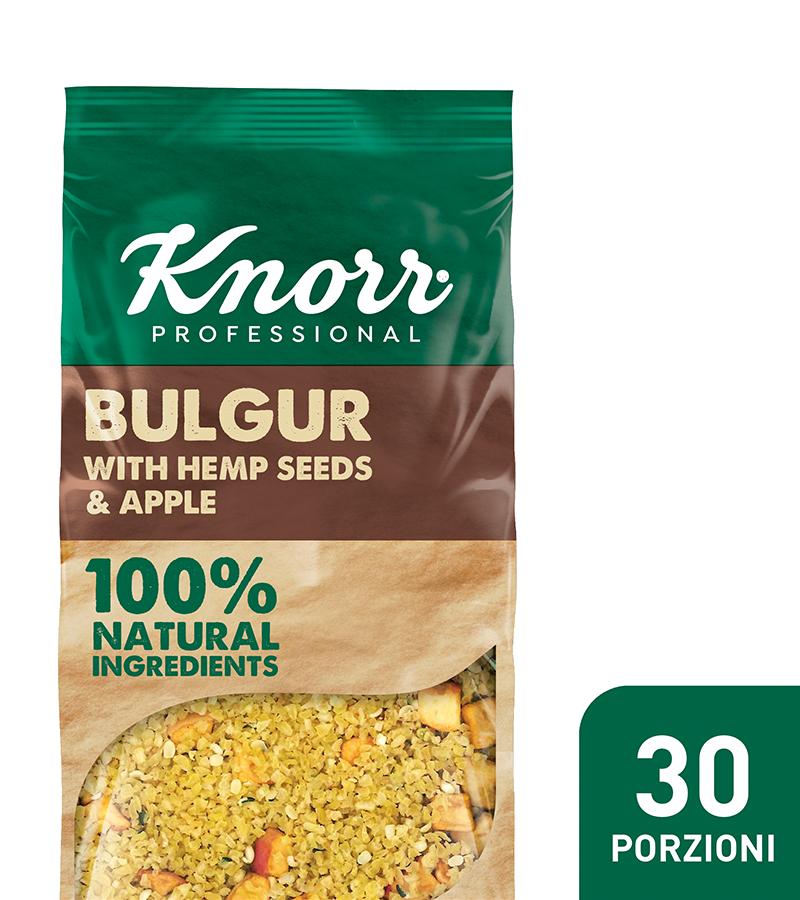Bulgur con semi di canapa e mela - I nuovi Smartfood di Knorr Professional sono 100% naturali e permettono di creare con facilità piatti nutrienti ed equilibrati.