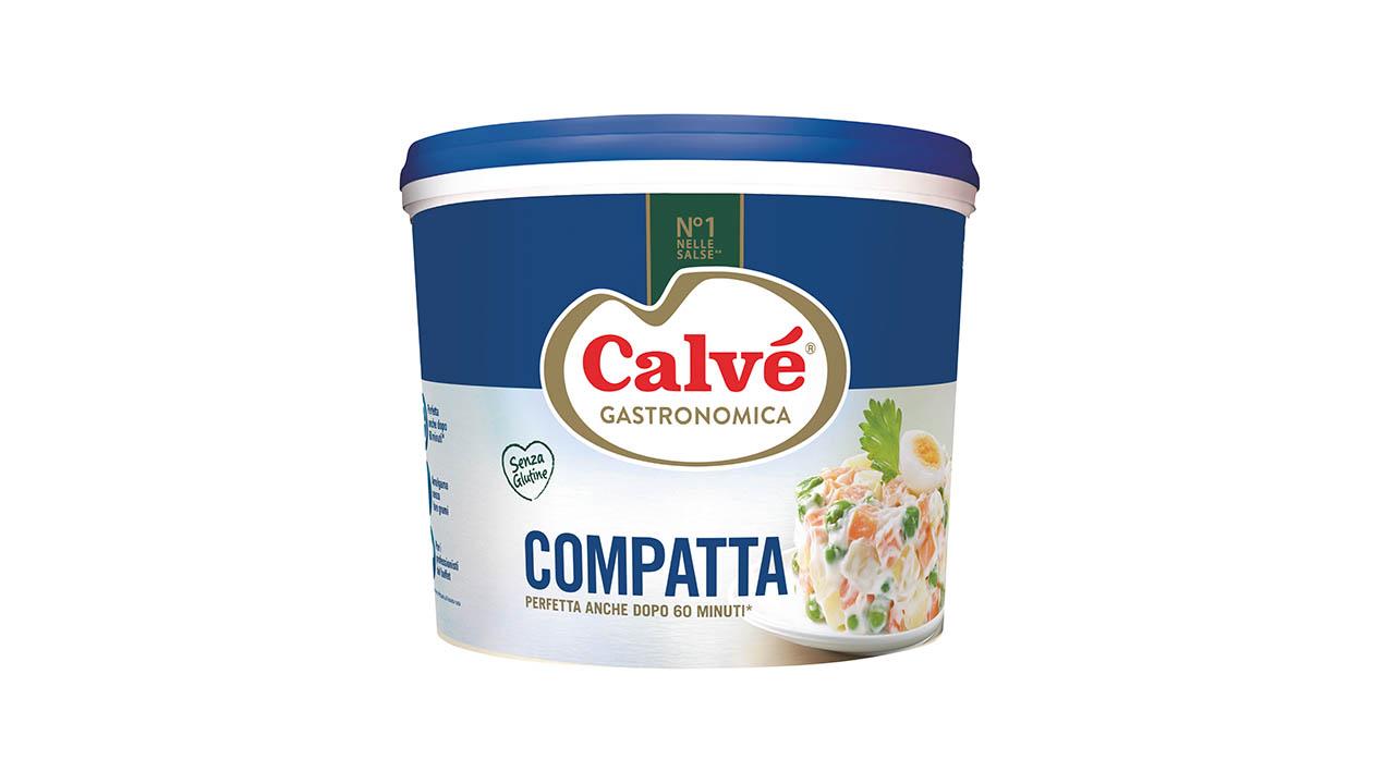 Calvé Gastronomica Compatta 4,75 Kg - Calvé Compatta garantisce gusto perfetto e lunga durata all'Insalata Russa.