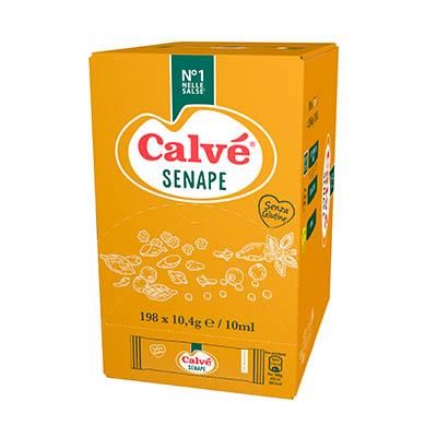 Calvè Senape - Con le monodosi Calvé puoi offrire le salse dal tipico gusto italiano, in un formato che ti permette di tenere i costi sotto controllo.