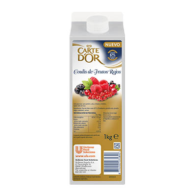 Coulis di Frutti di Bosco 1kg - I Coulis di Frutta Carte d'Or sono frutta fresca pronta all'uso.