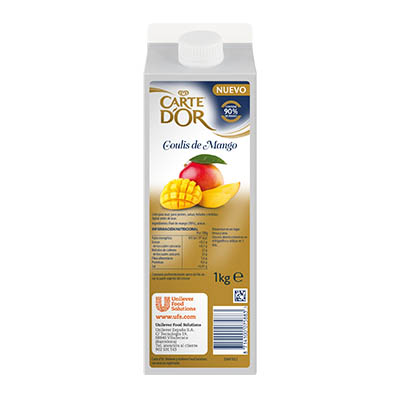 Coulis di Mango 1kg - I Coulis di Frutta Carte d'Or sono frutta fresca pronta all'uso.