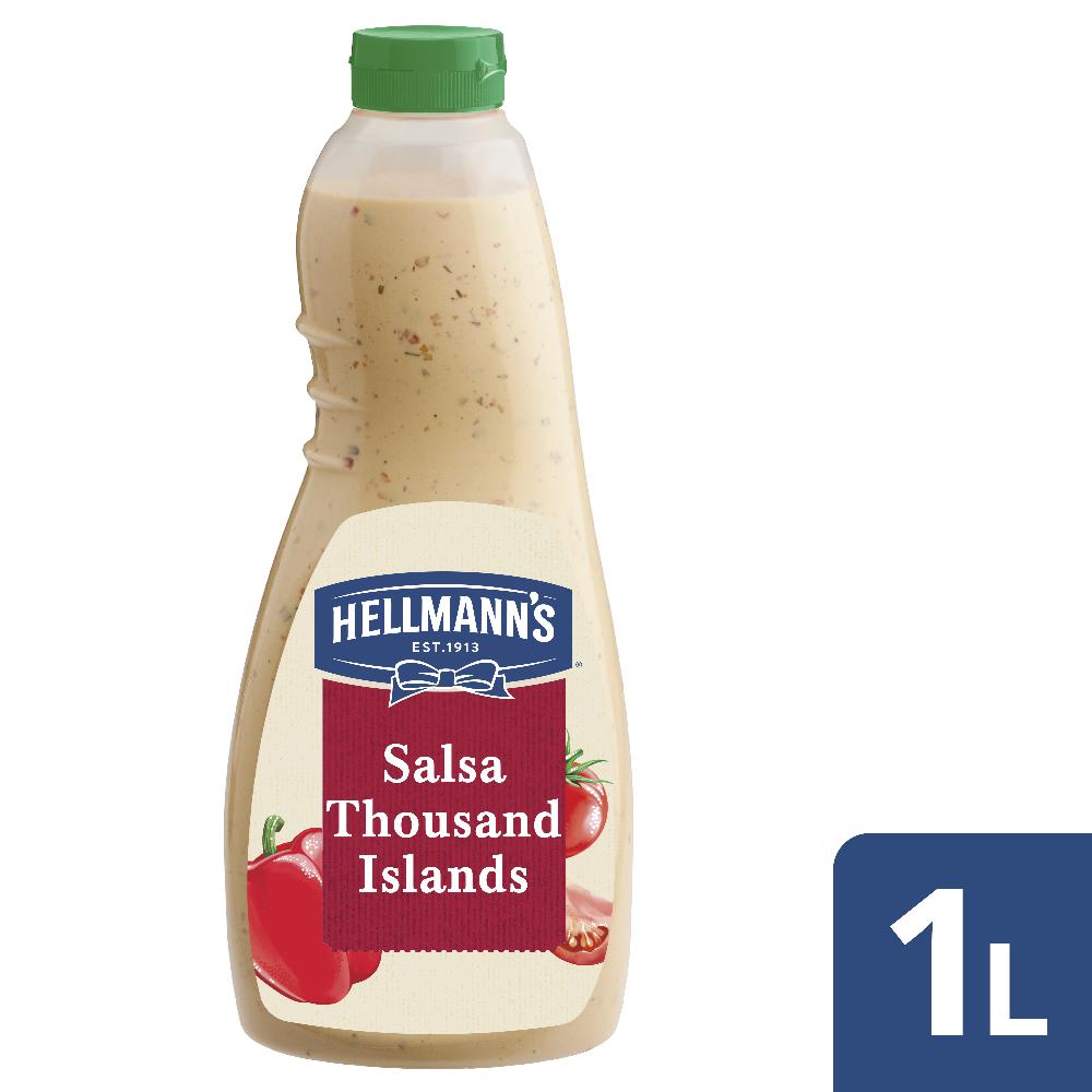 Hellmann's Salsa Thousand Islands 1L - I Dressing Hellmann's ti aiutano a creare con facilità insalate sempre nuove e gustose.