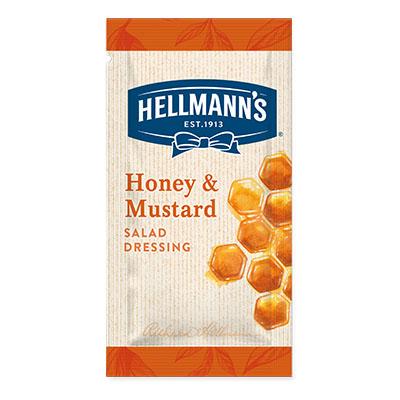 Hellmann's Honey Mustard monodose - I Salad Dressing Hellmann's in monoporzione sono la soluzione perfetta per insaporire e rendere trendy tutte le tue insalate.