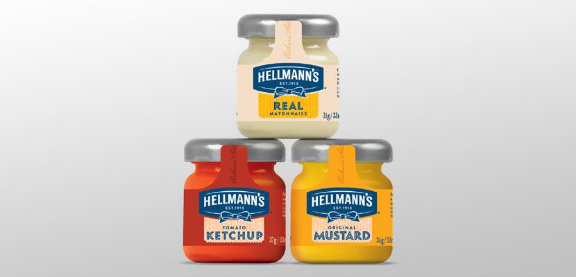 Hellmann's Original Mustard Monodose in vetro 33 ml  - Migliora l'immagine della tua attività con Hellmann's, il brand conosciuto in tutto il mondo!