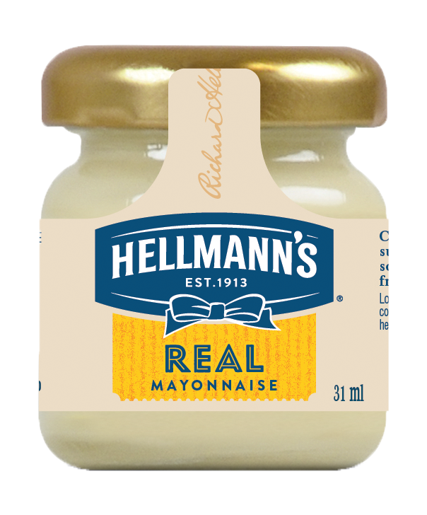 Hellmann's Real Mayonnaise Monodose in vetro 33 ml
