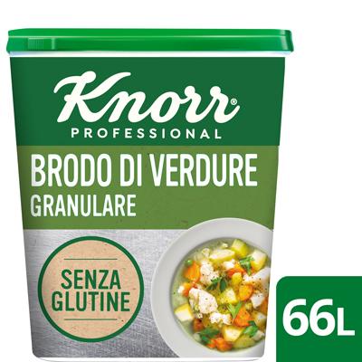 Knorr Brodo Verdure Granulare Senza Glutine 1 Kg - I nuovi brodi granulari Knorr: la stessa qualità di sempre, ora anche senza glutine.