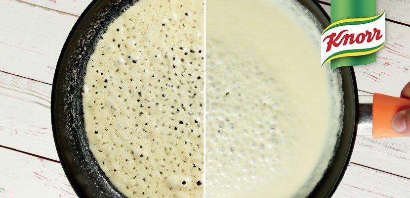 Knorr Créme & Créme 1 Lt - Non straccia abbinata ad acidi neppure se impiegata ad alte o basse temperature.