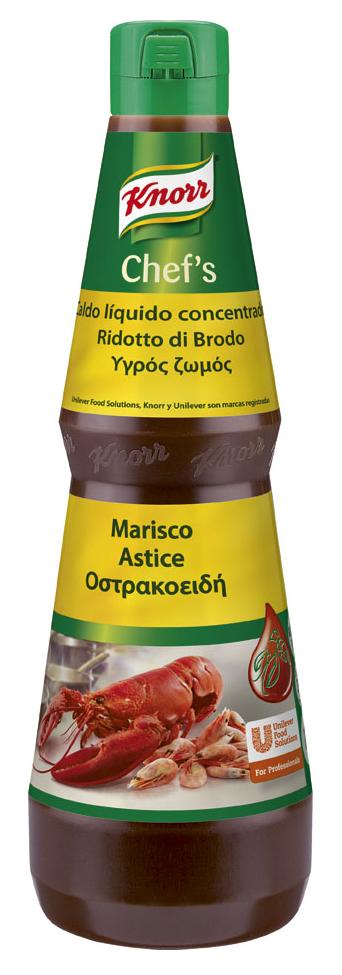 Knorr Ridotto di Brodo Astice 1 Lt - La marinatura con il Ridotto Knorr migliora il gusto, il colore e l'aspetto dei tuoi ingredienti congelati.