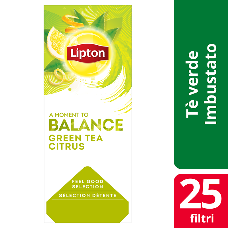 Lipton Green Tea Citrus Flavoured Green Tea 25 Filtri