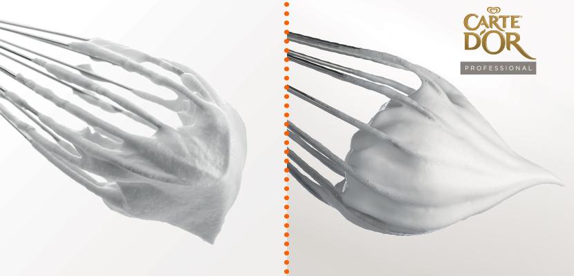 Texture 2 Spumosa - Stabile fino a 24 ore, anche senza zucchero. Non smonta e può essere rimontata.