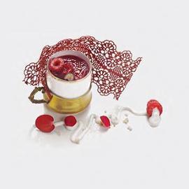 Absolut vintage: Mousse allo yogurt e quinoa e gelatina di frutti rossi