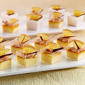 Crema Catalana al Cognac, con arachidi, arance e cannella