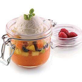 Gelèe di frutta al limoncello con gelato fior di latte