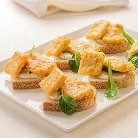 Pane e panelle con maionese lime e menta