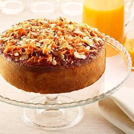 Torta camilla con mandorle e carote