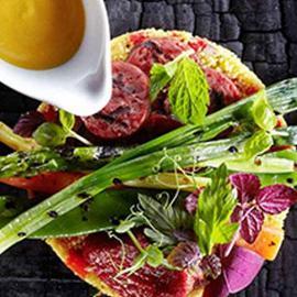 Verdure grigliate con chorizo e cous cous