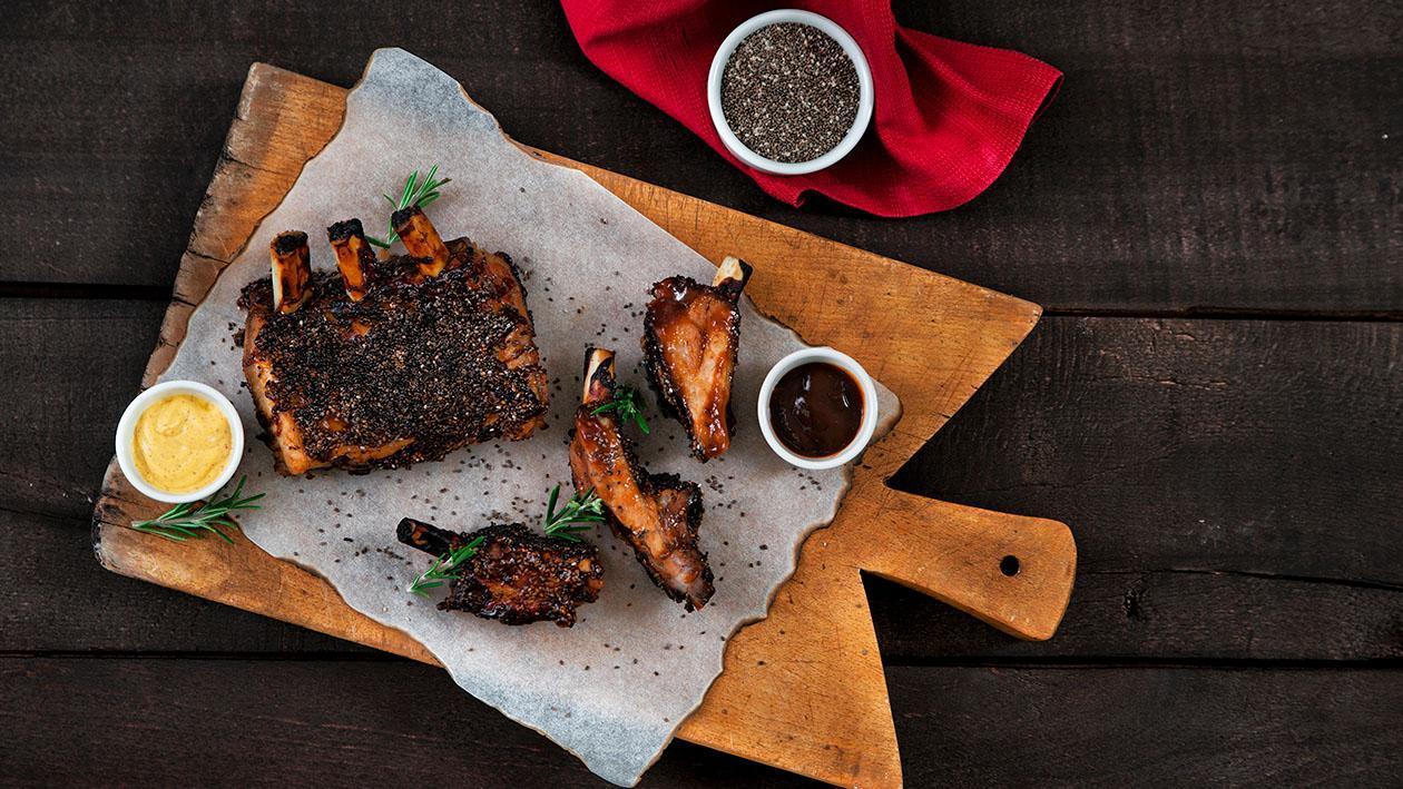 Costine di maiale alla barbecue e semi di chia – Ricetta