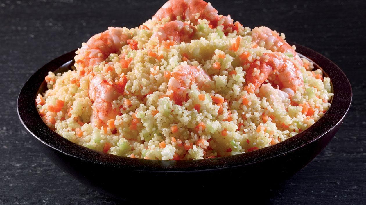 Cous Cous agli agrumi con gamberi – Ricetta