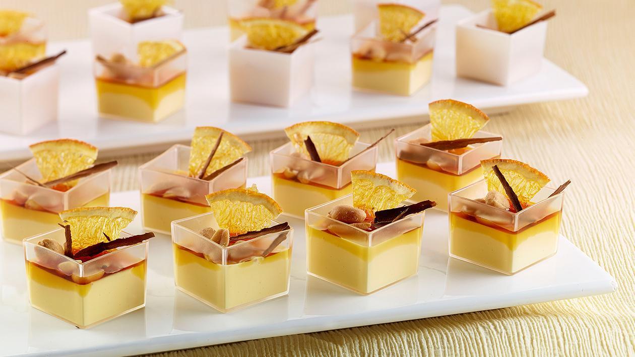 Crema Catalana al Cognac, con arachidi, arance e cannella  – Ricetta