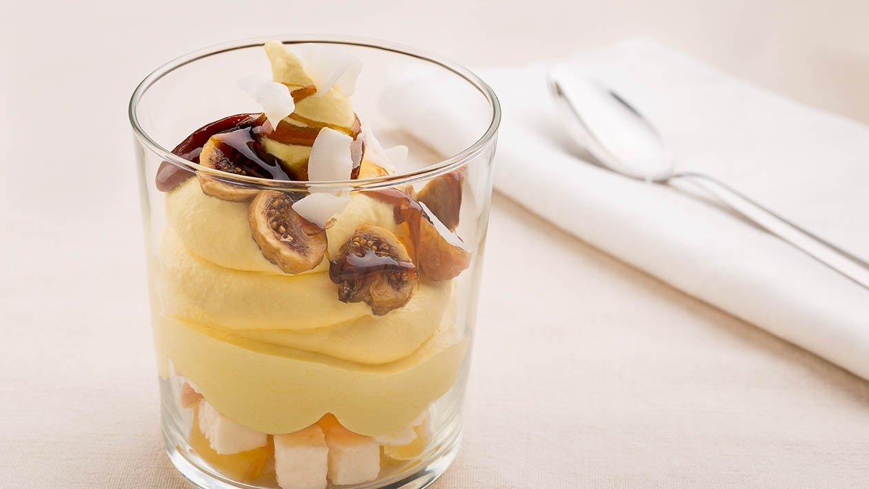 crema catalana gluten free alla mela con fichi caramellati e cocco candito – Ricetta