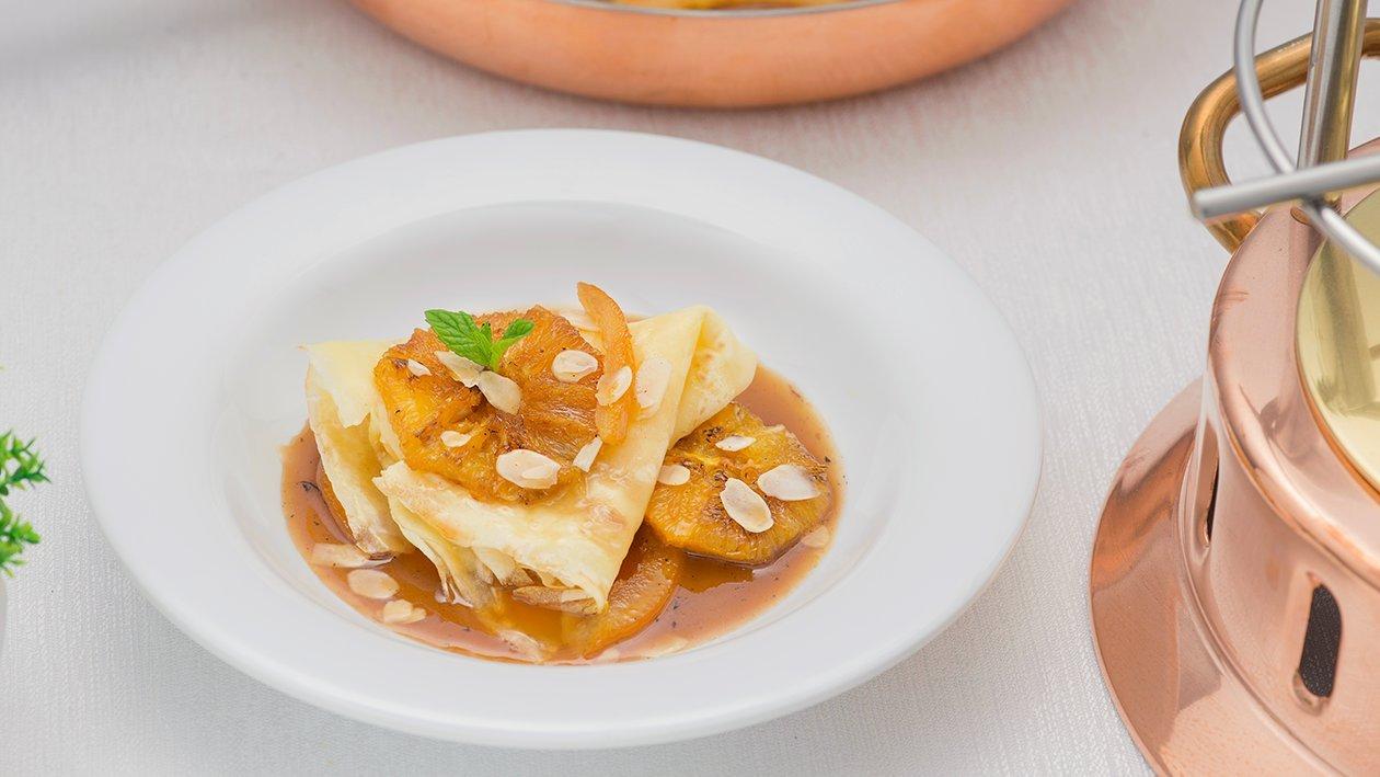 Crepes Gluten Free con salsa mou e arance – Ricetta