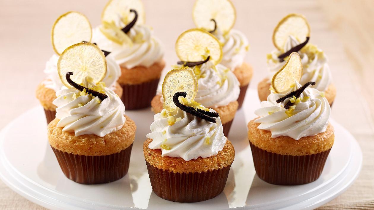 Cup cake al limone, con mandorle, vaniglia e limone candito  – Ricetta