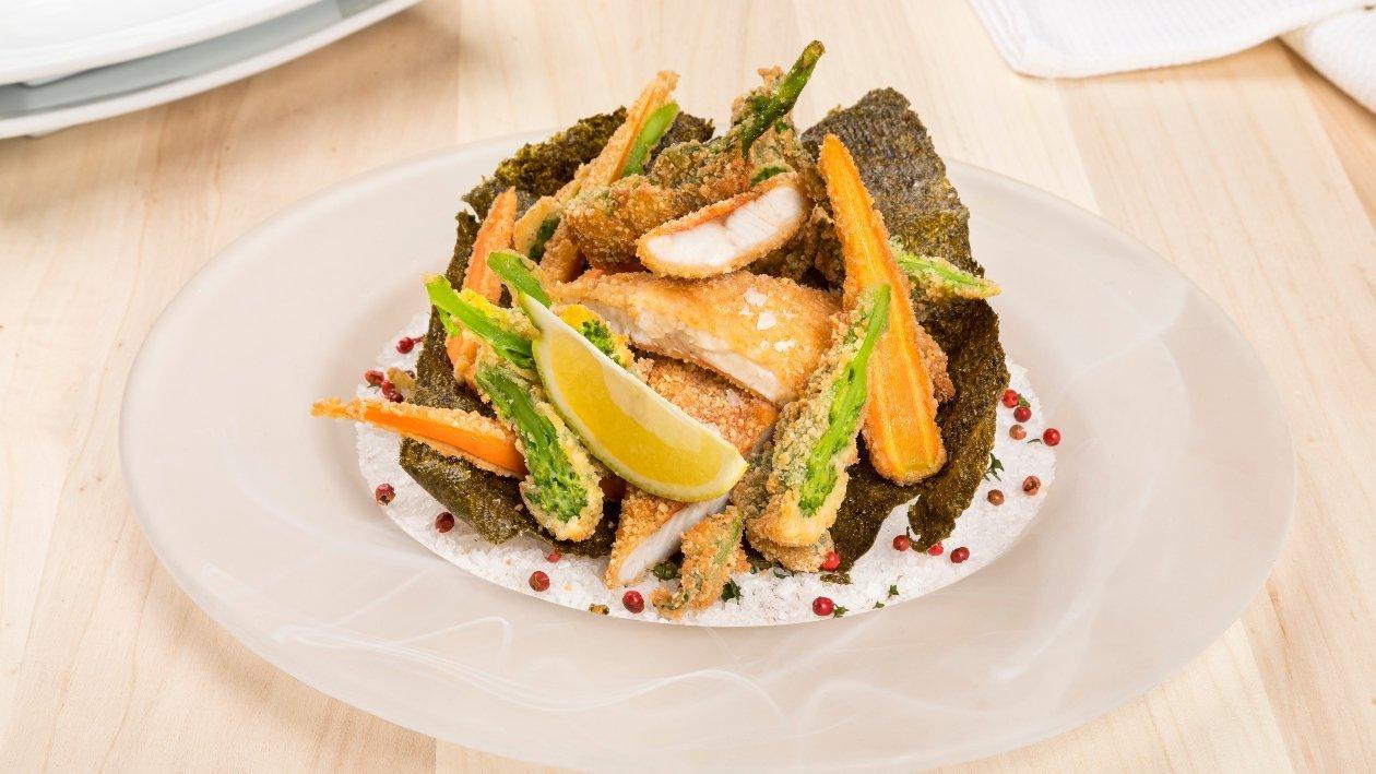 Filetti di triglia panati con friarielli e carote – Ricetta