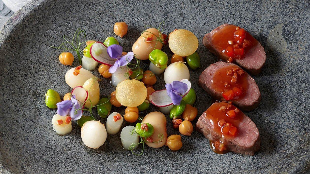 filetto di agnello leggermente affumicato con chorizo e paprika – Ricetta