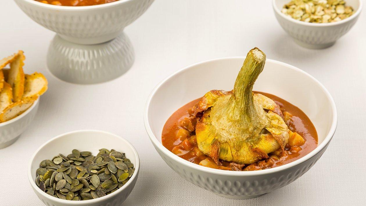 Gulasch con topinambur, patate e carciofi alla giudia – Ricetta