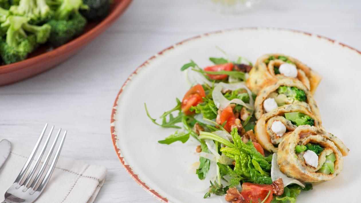 Omelette con broccoli, brie e pepe arlecchino – Ricetta