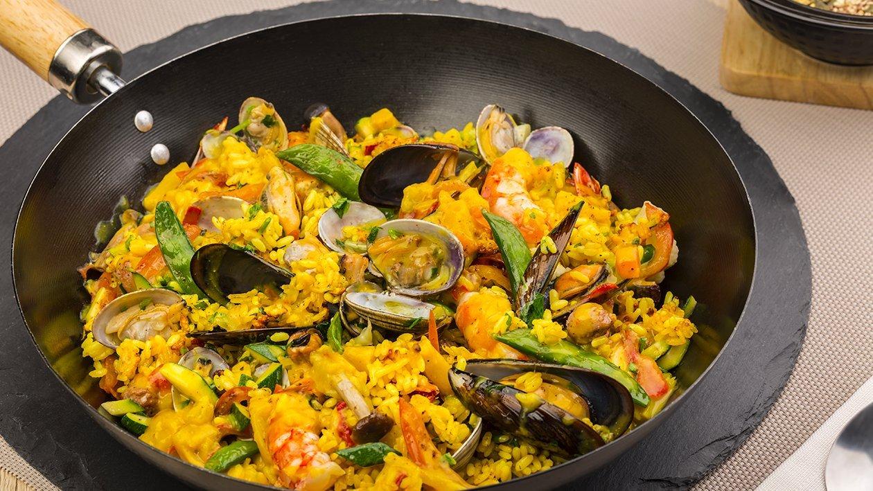 Paella di riso in salsa al curry – Ricetta