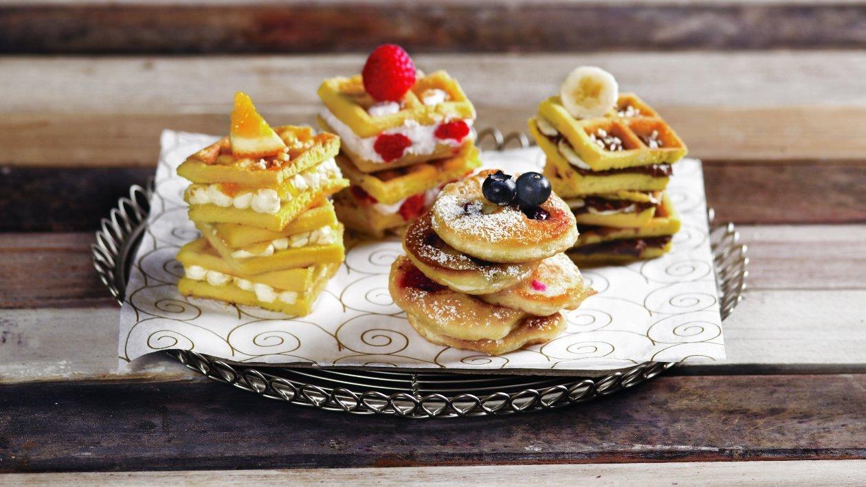 Pancake e Waffle assortiti – Ricetta
