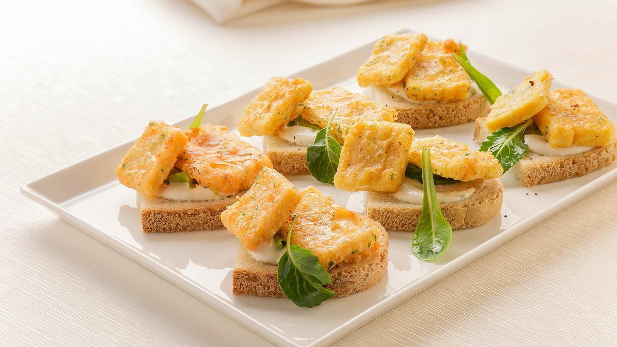Pane e panelle con maionese lime e menta – Ricetta