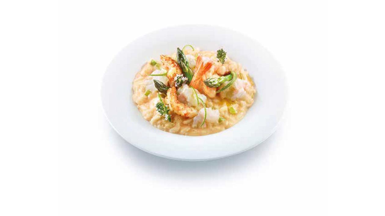 Risotto con crostacei, asparagi e lime – Ricetta