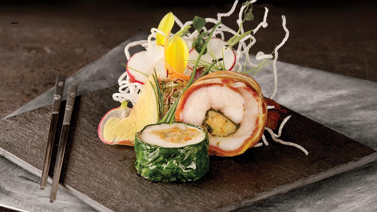 Sushi di pancetta di maialino con salsa BBQ – Ricetta