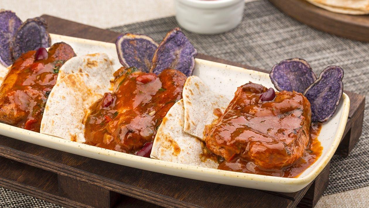 Tortillas di salsiccia a punta di coltello in salsa chili – Ricetta