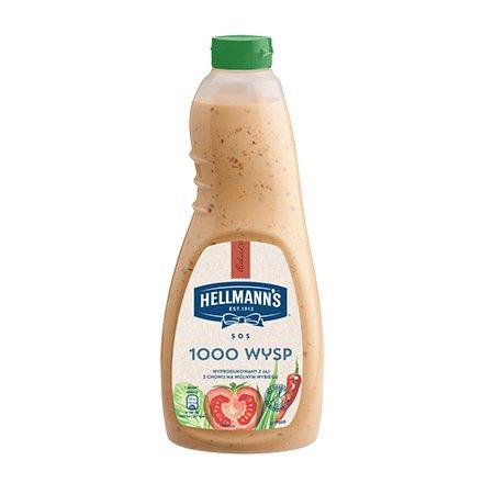 """Hellmann's Užpilas Salotoms """"1000 salų"""" 1 L -"""