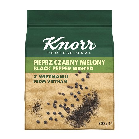 Knorr Professional Pepper Juodieji Pipirai (malti) iš Vietnamo 500G -