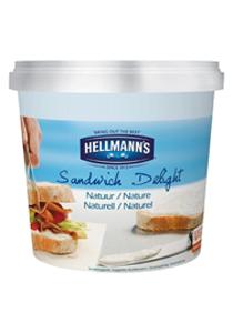 Hellmann's Sandwich Delight Tepamas kremas 1,5kg - Ypatingai lengvai tepamas kreminės struktūros, subtilaus skonio grietinėlės sūris, idealiai tinkantis sūrio pyragams