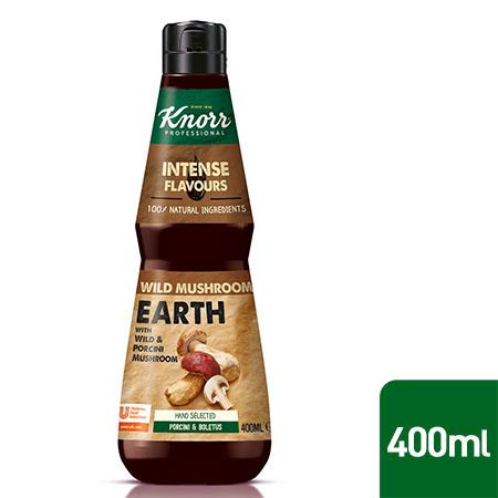 Knorr Professional Grybų Esencija 0,4 l - Pagaminta iš natūralių sudedamųjų dalių, pvz., baravykų, tikrųjų kazlėkų ir kepintų svogūnų.