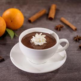 Karštas šokoladas su apelsinų žievelėmis