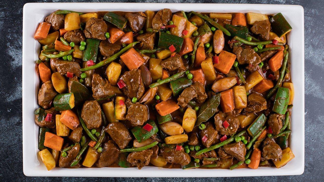 Ėrienos troškinys su daržovėmis – Receptas