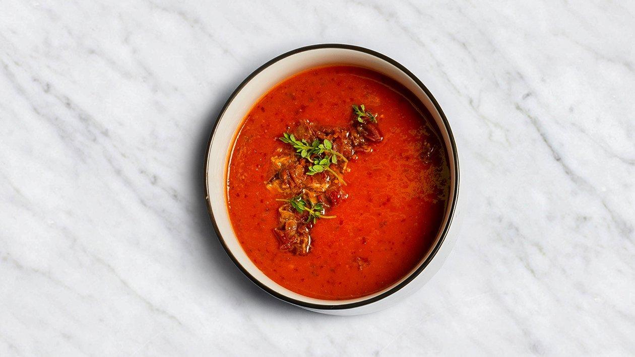 Keptų paprikų sriuba – Receptas