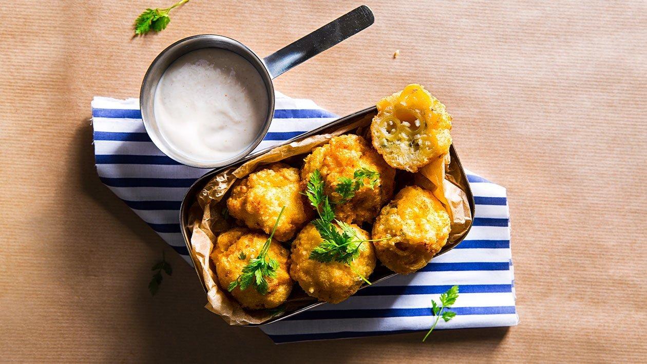 Makaronų ir sūrio kroketai – Receptas