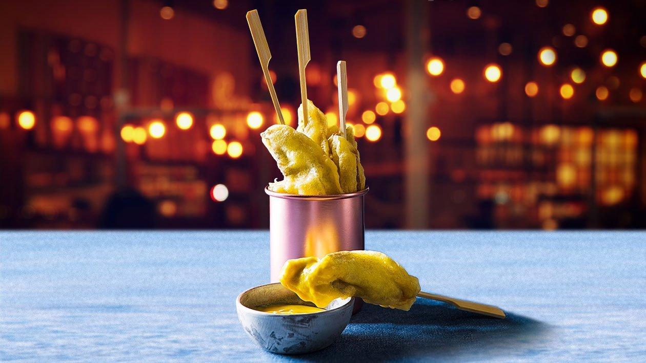 Portabela pievagrybių tempura – Receptas