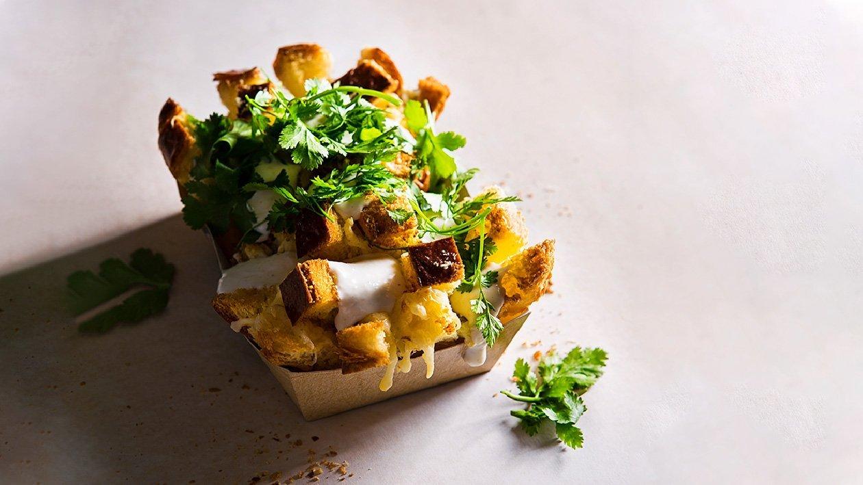 Sviestinė bandelė brijošė su 4 sūrių padažu – Receptas
