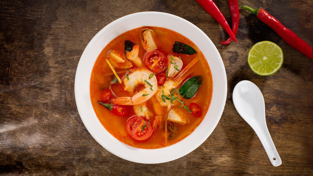 Tom yum krevečių sriuba – Receptas