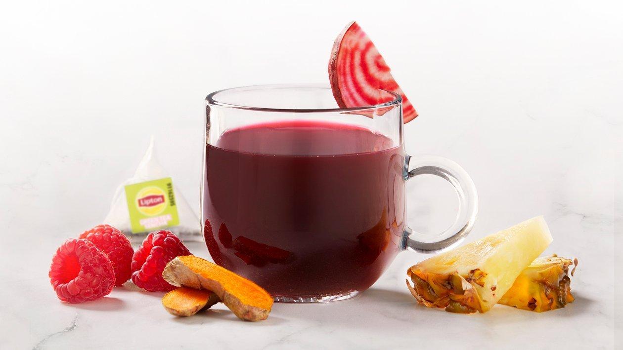 Žalioji arbata su ciberžole ir burokėliais – Receptas